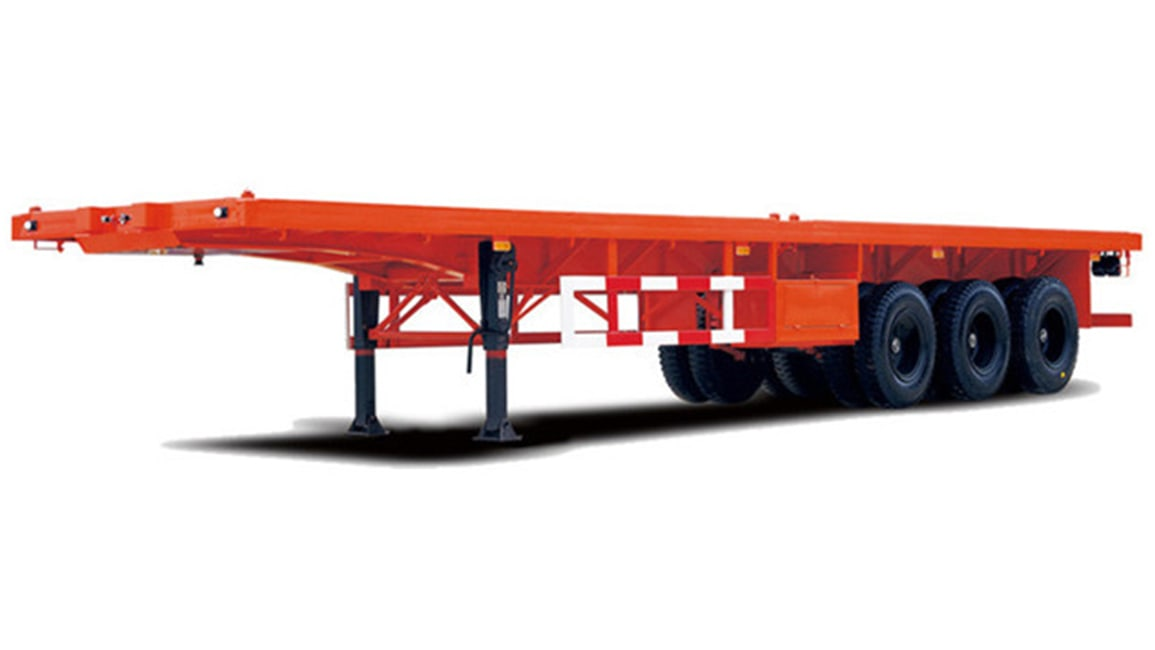 flated semi trailer